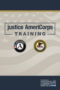 2014 justice AmeriCorps Trning poster