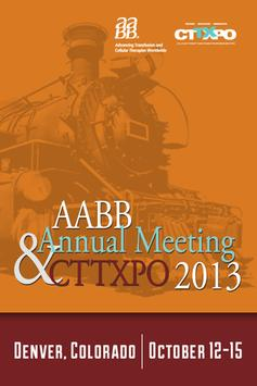 AABB Meeting & CTTXPO 2013 poster