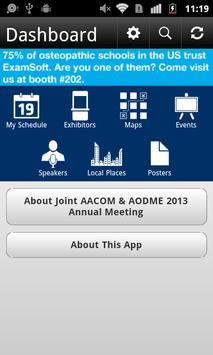 Joint AACOM & AODME 2013 apk screenshot