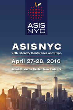 ASIS NYC 26th Security Conf poster