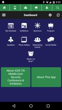 ASIS Middle East 2016 poster