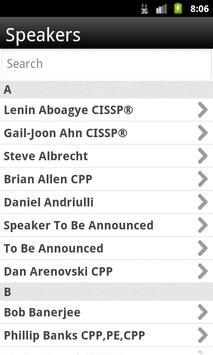 ASIS 2013 apk screenshot