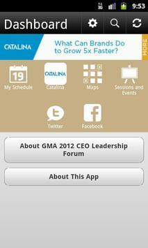 GMA 2012 CEO Leadership Forum poster