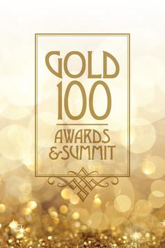 Gold 100 Awards & Summit poster