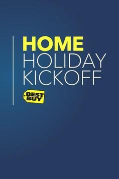 2012 Home Holiday Kickoff poster