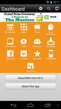 M&A East 2013 apk screenshot