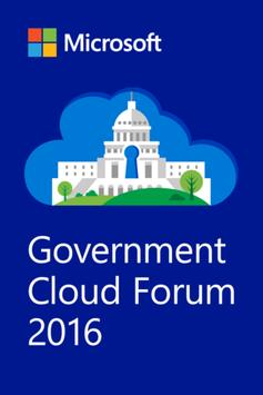 MS Government Cloud Forum poster