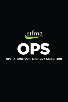 SIFMA Operations Con & Exh poster