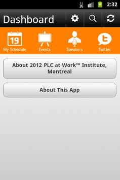 2012 PLC at Work™, Montreal poster