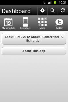 RIMS 2012 Annual Conference poster