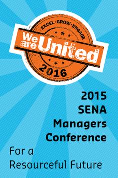 SENA Managers Conference 2015 poster