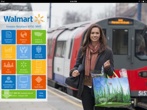Walmart Investor (tablet) poster