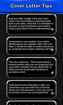 Cover Letter Tips poster