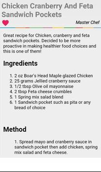 Cranberry Chicken Salad Recipe apk screenshot
