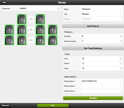 iTyre Mobi Tire survey system apk screenshot
