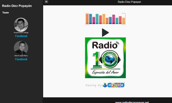Radio Diez Popayan apk screenshot