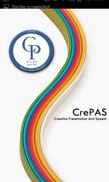 CrePAS - 대학생 연합 발표동아리 poster