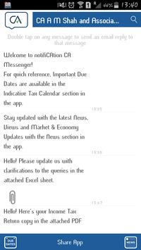 notifiCAtion CA Messenger poster