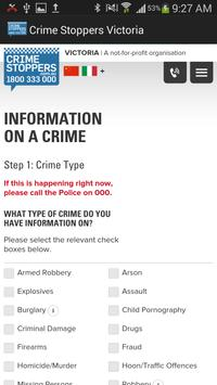 Crime Stoppers Victoria apk screenshot