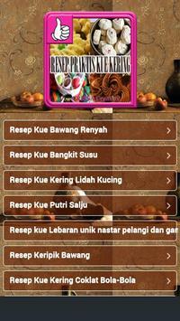 Resep Praktis Kue Kering poster