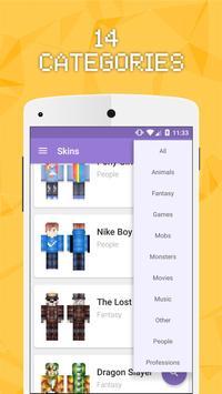 Skins for Minecraft PE 2 apk screenshot