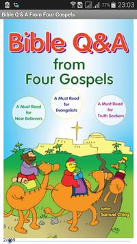 Bible Q & A From Four Gospels poster