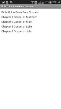 Bible Q & A From Four Gospels apk screenshot