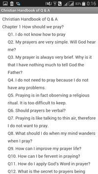 Christian Handbook of Q & A apk screenshot