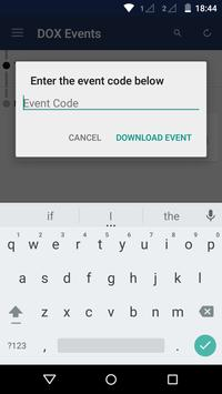 DOX Events apk screenshot