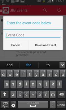 JIB Events apk screenshot