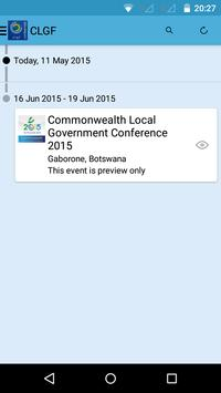 CLGF Conferences apk screenshot