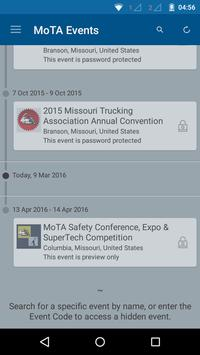 MO Trucking Association Events poster