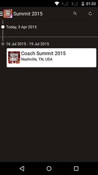 Coach Summit 2015 apk screenshot
