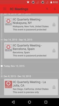 IIC Meetings poster