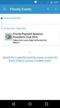 Priority Events apk screenshot