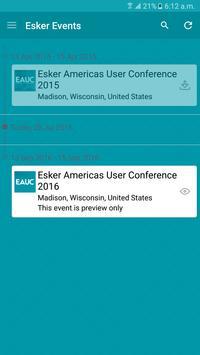 Esker Events apk screenshot