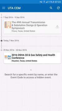 UTA Conference & Event Mgmt apk screenshot