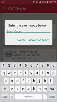 QS/1 Events apk screenshot
