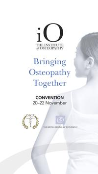 Institute of Osteopathy Events poster