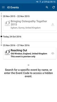 Institute of Osteopathy Events apk screenshot