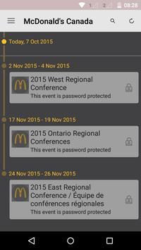 McDonald's Canada Events poster