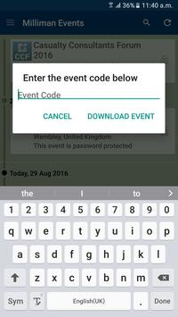 Milliman Events apk screenshot