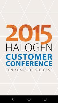 Halogen Customer Conference poster