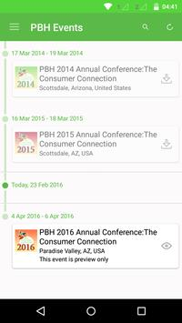 PBH Events apk screenshot
