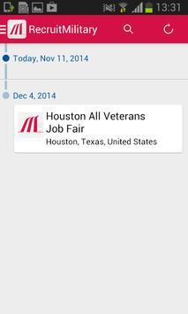 RecruitMilitary Events apk screenshot