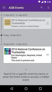 AGB Events and Programs apk screenshot