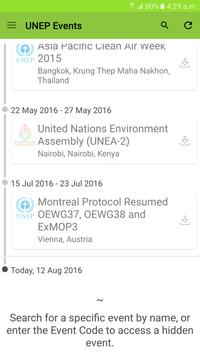 UNEP Events poster