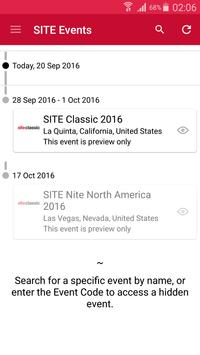 Site Events apk screenshot