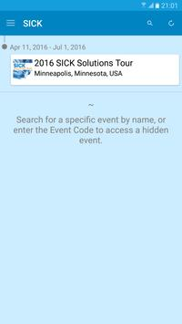 SICK Events apk screenshot