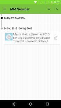 Merry Maids Seminar 2015 poster